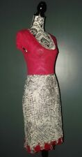 RENE DERHY JUPE SKIRT  BAROQUE BORDS  RELIEF ROSES TS 36/38