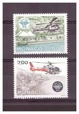 MONACO .  N° 1951/1952.  2   VALEURS  AVIATION       NEUVES  **  . SUPERBE