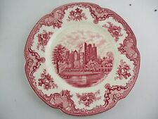 Vintage Johnson Bros 'Old Britain Castles' Fluted Edge Dinner Plate 26 cm