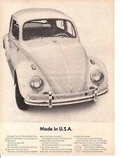 1964 VW / VOLKSWAGEN BEETLE  ~  GREAT ORIGINAL PRINT AD