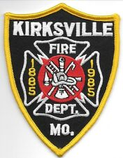 "Kirksville  Fire Dept., Missouri (3.75"" x 4.75"" size) fire patch"