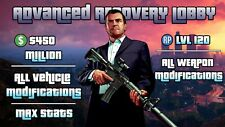 Lobby GTA 5 PC Modded Account : $450M, Level 120, Max Stats, Unlocks