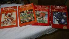 LOT Vintage Atari 2600 Video Games & Boxes Manuals Basketball Asteroids Battle
