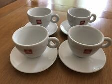 Lot 001 - Set Of illy Medium Cappuccino Coffee Cups & Saucers x 4
