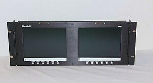 "Marshall Electronics V-R82-P 7.9"" Dual LCD Monitor Unit Rack"