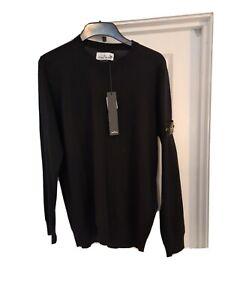 Stone Island mens Merino Wool jumper Black XL