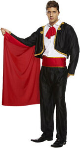 "MATADOR BULLFIGHTER BULL FIGHTER SPAIN SPANISH ADULT FANCY DRESS  fits 44""chest"