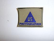c0108 WW2 US Photographer Patch Civilian Contractor R10C