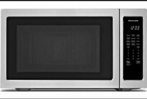 KitchenAid 1.6cuft SS Countertop Microwave Oven with 9 Quick Touch Cycles