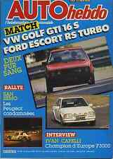 AUTO HEBDO n°545 du 22 Octobre 1986 VW GOLF GTI 16S FORD ESCORT RS TURBO