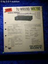 Sony Service Manual TC wr690/wr790 cassette Deck (#2530)