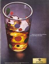 1969 Johnnie Walker Black Label Scotch Whisky Pay less for glass afford PRINT AD