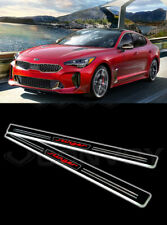 Korea 2PCS White Color LED Door Scuff Plate Guard for Kia Stinger 17 ~19