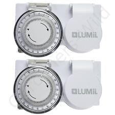 2x minuterie Plug in 24 h Heavy Duty Lumii haute charge HID CFL Ballast Grow Light