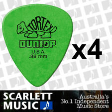4 x Jim Dunlop Standard Tortex .88mm Green Picks Plectrums .88 *FOUR PICKS*