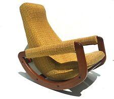 mid century danish modern rocking chair 1960s retro vintage restored