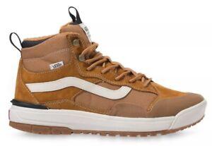 Vans Size 10 ULTRARANGE EXO Hi MTE. Tan Leather Brown. Trail Hiking Shoes