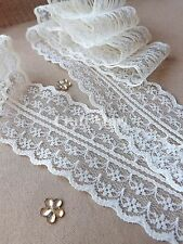 37 COLOURS lace ribbon trim craft scrapbook wedding cards scalloped edge favors