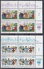 UNO Wien 1987 ** Mi.75/76 Tanzen Dancing Trachten Costumes [sr2054]