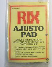 Rix 628-7 Ajusto Pad for Twin Coil Switch Machine