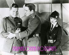 "CLARA BOW, RICHARD ARLEN, & BUDDY ROGERS 8x10 Lab Photo ""WINGS"" 1927 PORTRAIT"