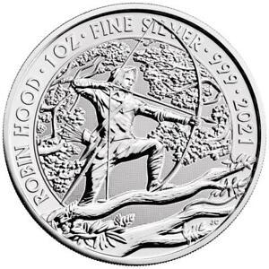 Großbritannien 2 Pfund 2021 Mythen und Legenden (1.) Robin Hood - 1 Oz Silber ST