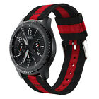 For Samsung Galaxy Watch 42/46mm Active 2 40/44mm Woven Nylon Stripe Band Strap