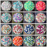 3/4/5/6/8MM Multi-color Half Pearl Bead Flat Back Scrapbook for Craft FlatBack U