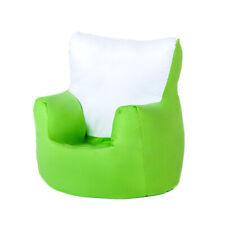 Kids Light Green Bean Bag Chair Seat Armchair Support Bedroom Seating Children