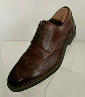Joseph Abboud Mens Oxford Wingtip Brogue Brown Leather Lace Up Shoes Size 10EEE
