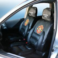 Manchester United Premium Limited Edition Car Seat Covers Black (pair). Superb.