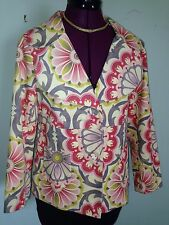 Anthropologie Baroque Thin Whale Corduroy Blazer Jacket  Fei Sz 8 Flower Power!