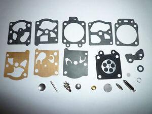 for  K20 WAT Carburettor Diaphragm Gasket Needle Repair Kit Fits Walbro WA WT