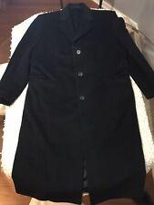 Jacob Siegel Italian Colombo Wool and Cashmere Black Overcoat 44R