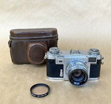 Contax IIA Color Dial Rangefinder Camera W/ 50mm F2 Zeiss-Opton Sonnar Lens