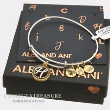 Authentic Alex and Ani Two Tone H Expandable Rafaelian Silver Charm Bangle