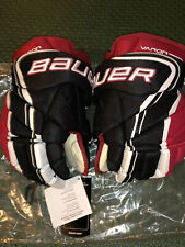 New listing Bauer Vapor 1X Lite Pro Ice Hockey Gloves Black/Red/White Senior Size 14