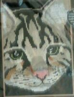 "NIP Dimensions Tabby Portrait Counted Cross Stitch Kit 5"" x 7"" 1995 Cat"
