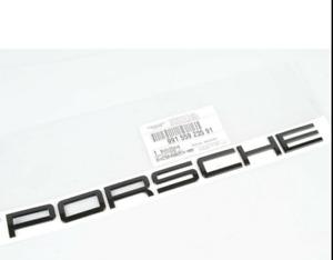"Genuine Porsche Emblem ""PORSCHE"" in Gloss Black Insigna Logo 991 99155923591"