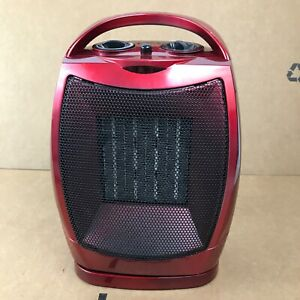 Comfort Zone CZ449 Oscillating Portable Ceramic Space Heater - Red