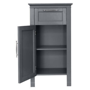FCH One Door Floor Cabinet with Drawer 3 Layers Bathroom Storage Furniture Grey