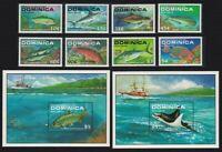 Dominica Marlin Tuna Snapper Manta Tarpon Game Fishes 8v +2 MSs MNH