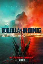 """New Art rePrint of 2021 Promo Poster """"Godzilla vs. King Kong"""" collectible Movie"""