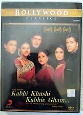 Kabhi Khushi Kabhi Gham DVD Bollywood Movie DVD Shah Rukh Khan Hrithik Amitabh