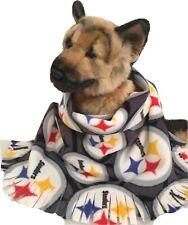 STEELERS CIRCLES, Fuzee Fleece Dog Blankets,Soft Pet Blanket Travel Throw