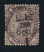 GB - QV - SG172 CANCELLED LEADENHALL ST E.C. HOODED N°1 LATE FEE CDS (2nd Type)
