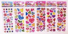 2020 Popular Classic Cartoon Children Love Heart Stickers Kids Birthday Gift 6p