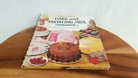 Vtg Betty Crocker's Cake and Frosting Mix Cookbook 1966 1st Edition 1st Printing