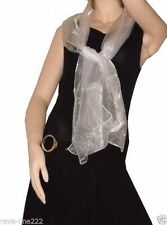 Etole/foulard/chale en organza, idéal avec robe de soirée BLANC