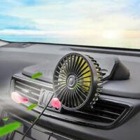 360 Rotating 12V 3 Speed USB Cooling Fan Truck Lorry Caravan Car Suction Cup Fan